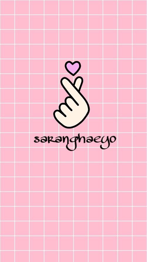 Freetoedit Korean Fingerheart Wallpaper