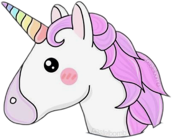 Unicorn Tumblr Emoji Interesting Art Pink Rainbow Freet