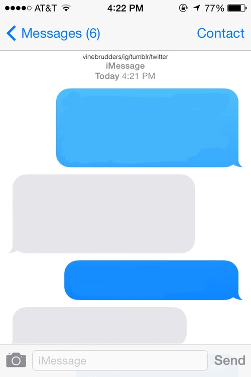 freetoedit blank imessage message iphone template