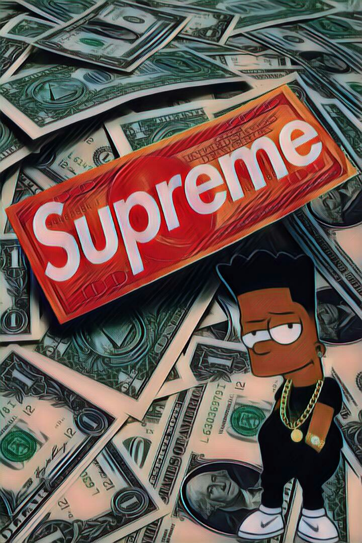 Bart simpsons supreme lv louisvuitton dollar for Fond ecran supreme