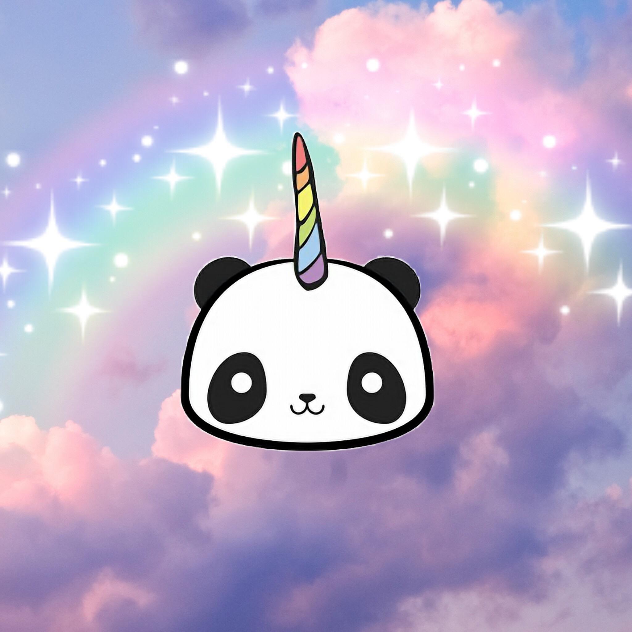 freetoedit remix remixit panda unicorn pandacorn black thanks clip art png thanks clip art animals