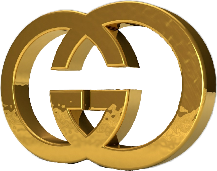 freetoedit guccigang gucci png gold logo sticker guccil...