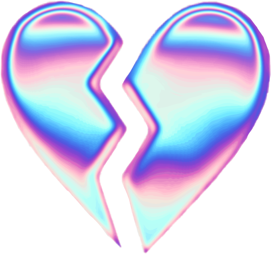Sad Tumblr Quotes About Love: Holographic Holo Heart Brokenheart Tumblr Aesthetic Pur