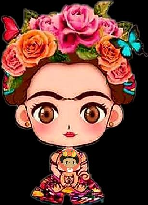 Frida Kahlo una diosa - Sticker by martinamarino848