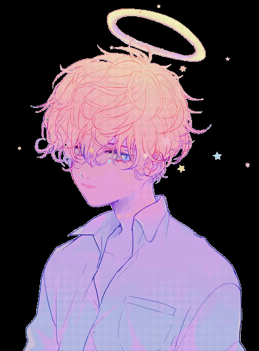 sticker anime aesthetic rainbow sad pastel japan boy...