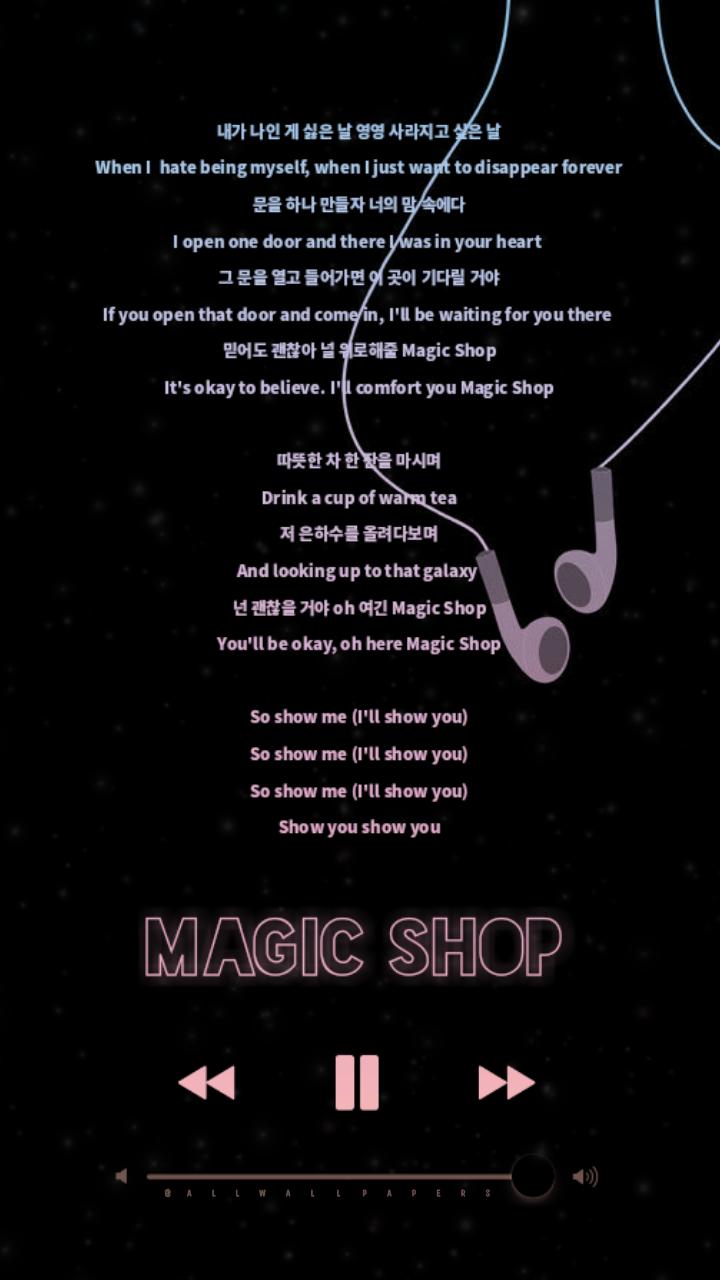 BTS Magic Shop Lyrics Wallpaper   Lockscreen 🌸This so...