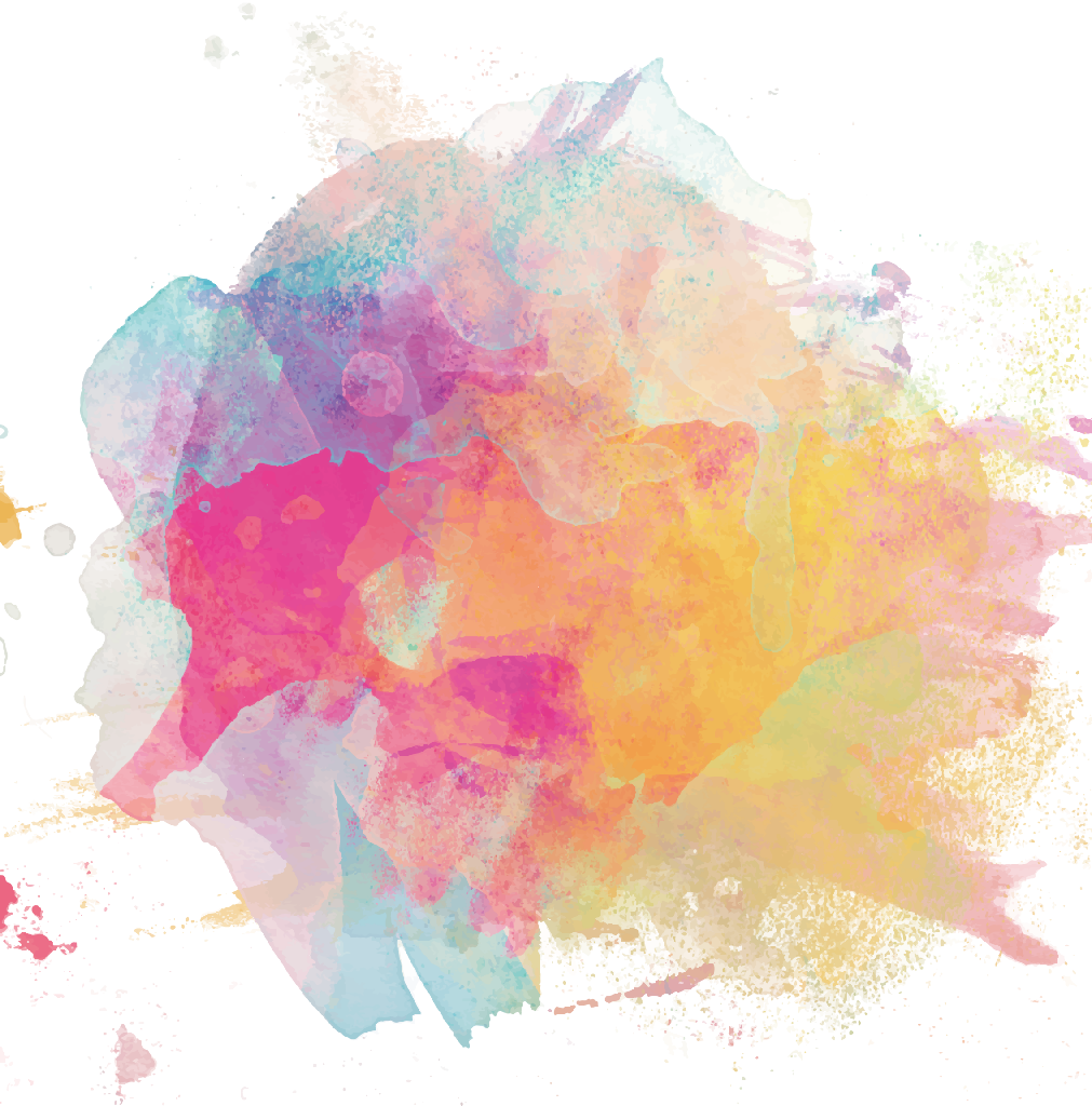 Colorful Watercolor Ink Splashes Vector Background, Bright ...  Colorful Watercolor Splash