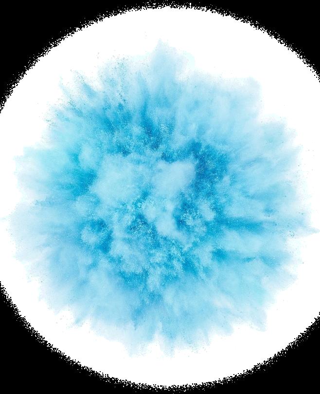 blue puff smoke explosion - Sticker by Kris Smith