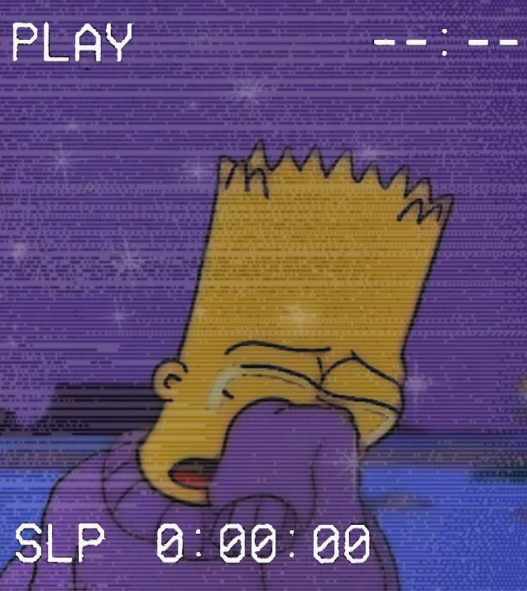 Freetoedit Bart Simpson Vhs Glitter Sad