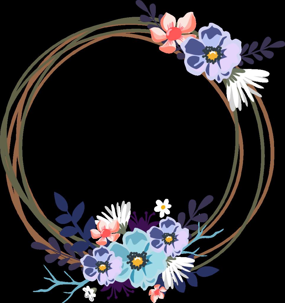 round circles circle Frames frame borders border floral...