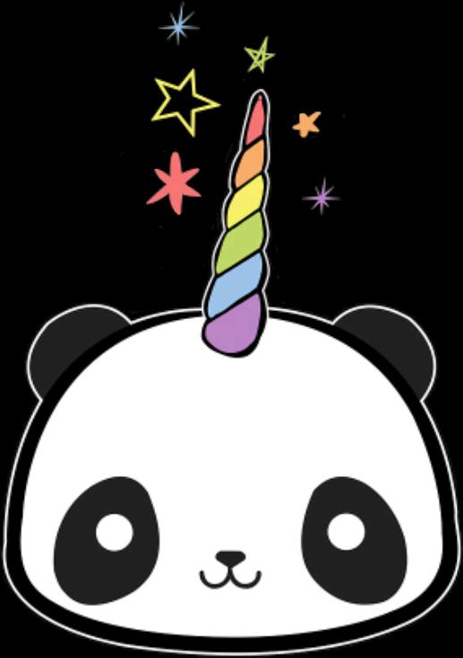 Pandacorn Panda Sticker By 🖤༺ⵕᥙᥱᥱᥒ༻💜