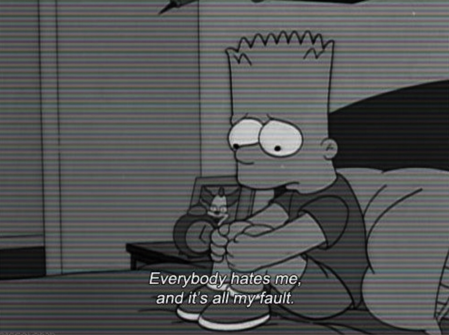 Bart Simpson Sad Wallpaper Iphone Powermall