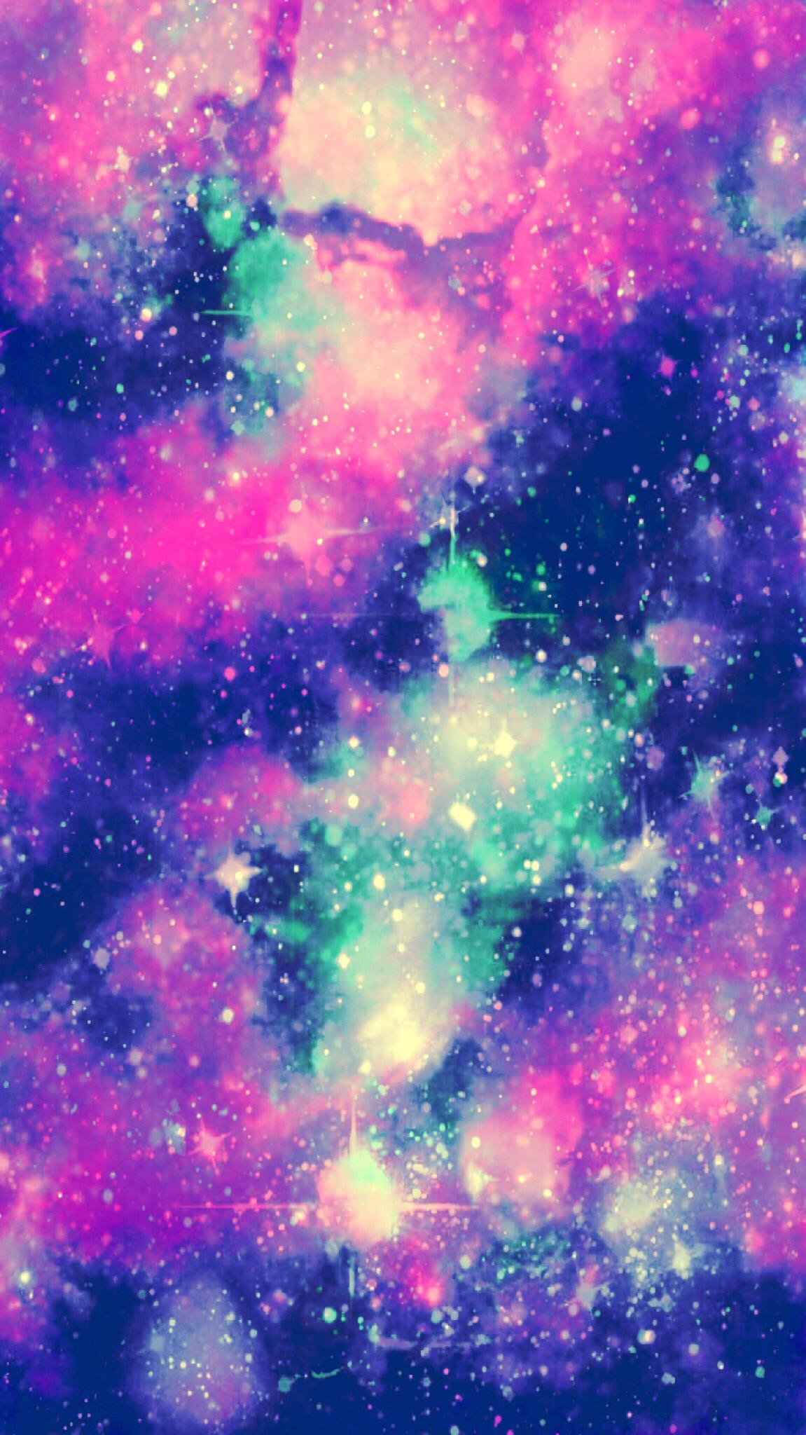 ftestickers galaxy sky glitter sparkle stars pink purpl...