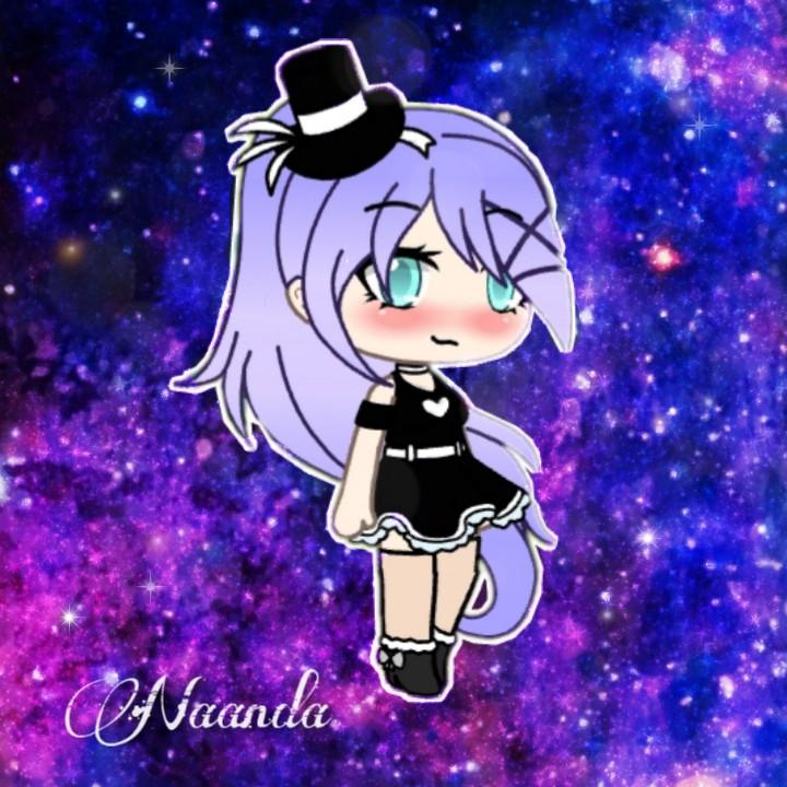 Anime Girl Hair Colors: Freetoedit Gacha Life Gachalife Girl Galaxy Gachalifeed