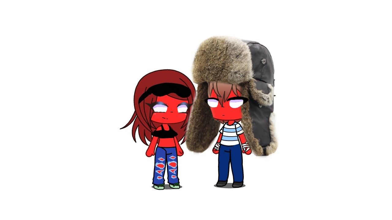 countryhumans America and Russia...