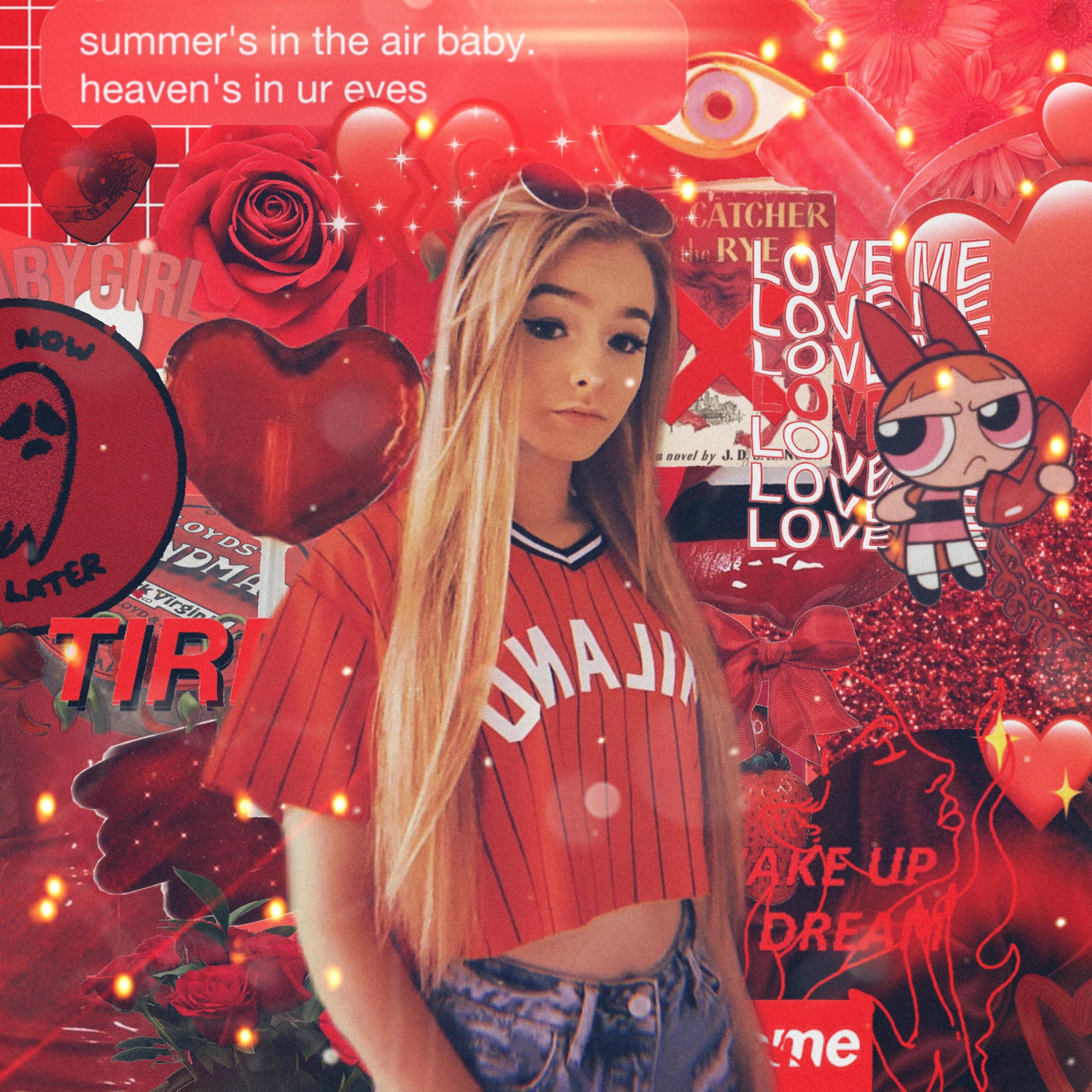 Zoelaverne Tumblr Wallpaper Makemefamous Red Cute Free