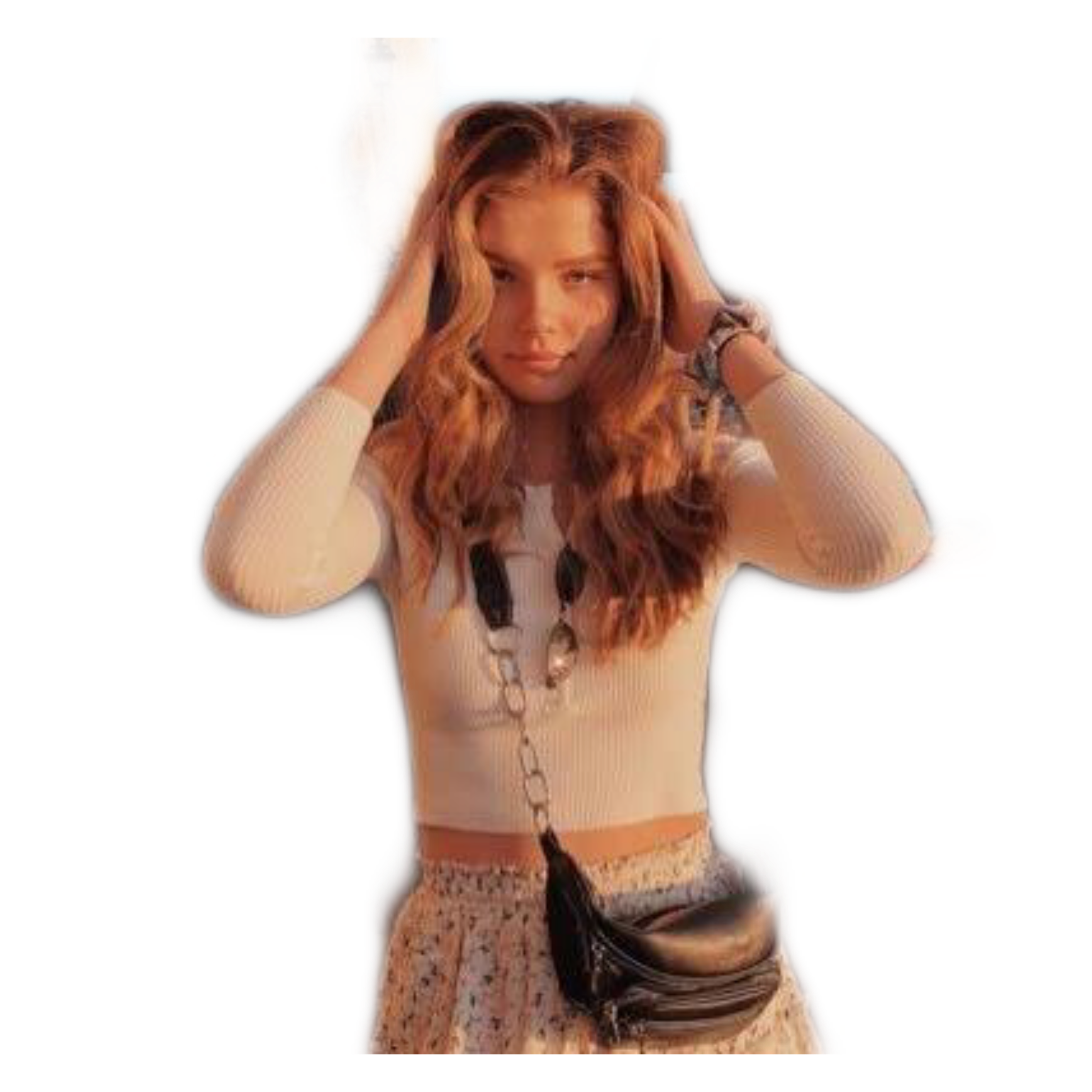 Ellie Elliethumann Hair Hands Pose Photo Instapic Freet
