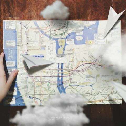 Travelling map pic edit
