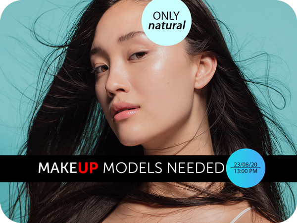 make up models needed flyer template