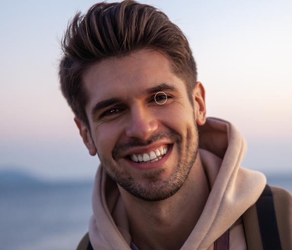 happy boy in hoodie profile image