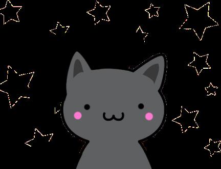 Black Anime Cat Transparent