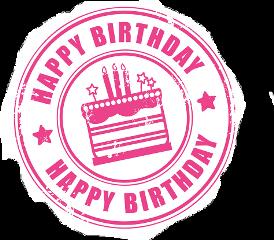 birthday pink stamp freetoedit