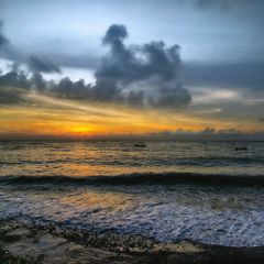 sunset photograohy beach clouds picsart