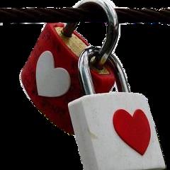 fteheart lock love heart red