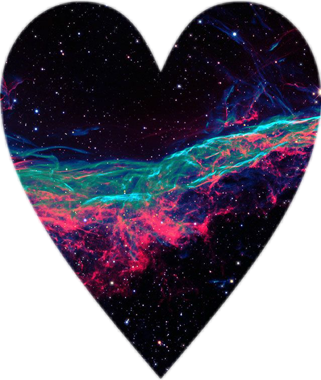 #galaxy #heart shape #freetoedit