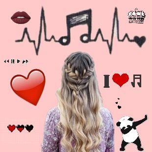 #love,#music,#panda,#red,#black