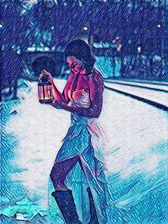 picsart magicgalaxycontest lantern snow girl