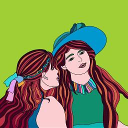 freetoedit sisterhoods colorart