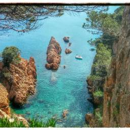 beach coast costabrava catalonia spain