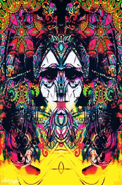 psychedelic retro vintage colorful popart
