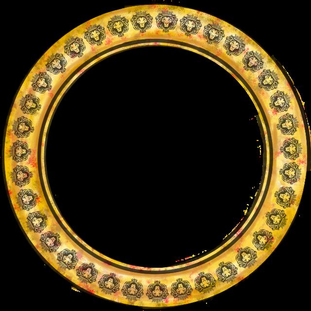 #sticker #frame #gold #lion#FreeToEdit