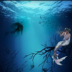 blue underthesea mermaid