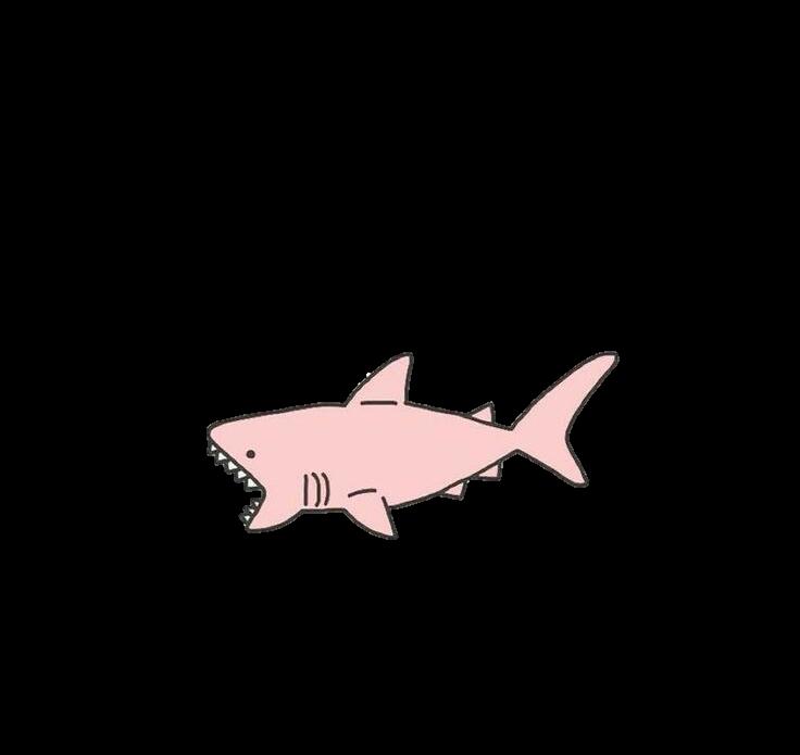 Shark Pink Sticker Pastel