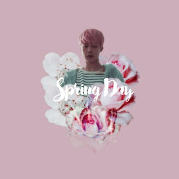 bts kpop jimin springday spring freetoedit