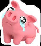 porky puerquito cerdo llorar triste freetoedit