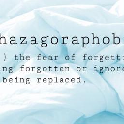 fear athazagoraphobia aesthetic