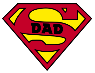 ftestickers superman superdad dad father
