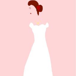 drawing dress woman girl