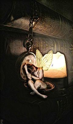 fairy candel books pocketwatch girl freetoedit