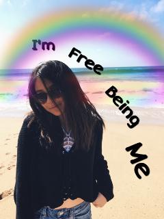 freetoedit free me rainbow