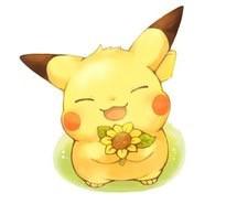 freetoedit pikachuuu flower