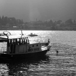 italy lake blackandwhite