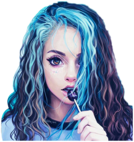 Tumblrgirl Tumblr Girl Art Blue Hair Bluehair Freetoedi