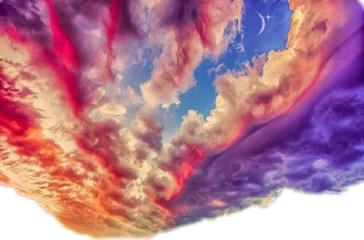 sticker clouds sky colorful freetoedit