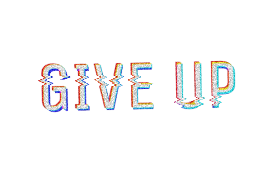 #giveup #text #glitch