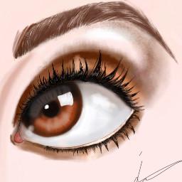 eye interesting drawing draw browneyes freetoedit